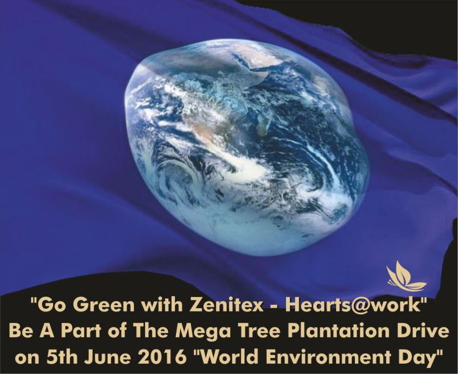 earth day flag zenitex heartsatwork tree plantation 5th june 2016earth day flag zenitex heartsatwork tree plantation 5th june 2016